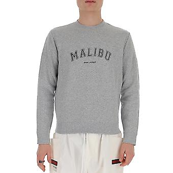 Saint Laurent 612043ybpz21407 Men's Grey Cotton Sweatshirt