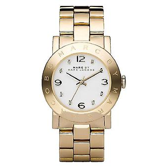 Marc By Marc Jacobs Amy Ladies Watch - MBM3056 - White/Gold