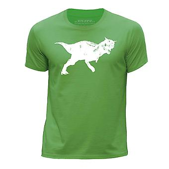 STUFF4 Boy's Round Neck T-Shirt/Dinosaur/Carnotaurus/Green