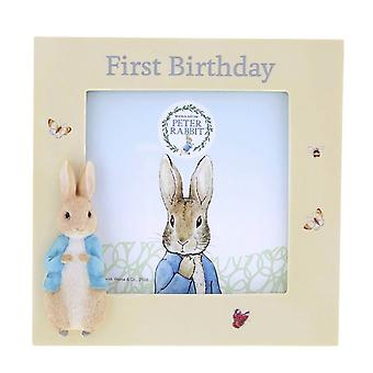 Peter Rabbit First Birthday Photo Frame Gift in Presentation Box