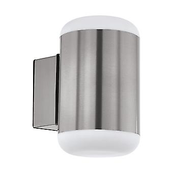 Eglo Merlito - 1 lys utendørs vegglys rustfritt stål IP44 - EG97843