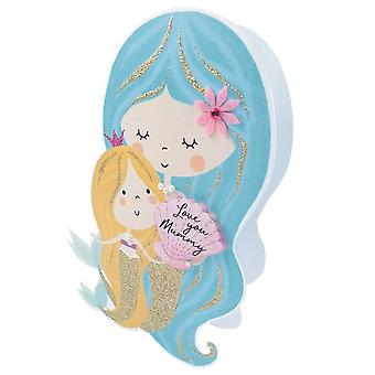 Second Nature Paper Dazzle 3d Pop Out Mermaids Love You Mummy Card