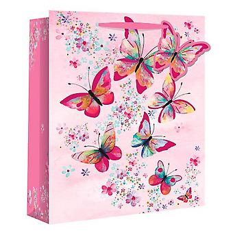 Eurowrap Butterfly Gift Bags (Pack Of 12)