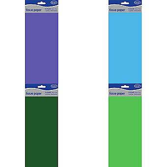 County 10 Sheets Plain Tissue Paper Pack Of 12