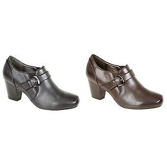Boulevard Womens/Ladies Mid Heel Buckle Shoes