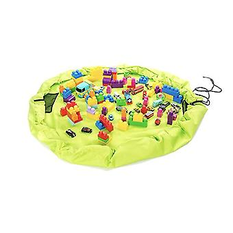 Lime Kids Waterproof Portable Toy Tidy Storage Bag Play Drawstring Bag Play