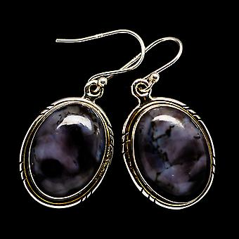 "Gabbro Earrings 1 1/2"" (925 Sterling Silver)  - Handmade Boho Vintage Jewelry EARR397714"