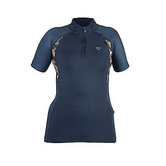 Shires Aubrion Highgate Womens Short Sleeve Baselayer - Navy Blue