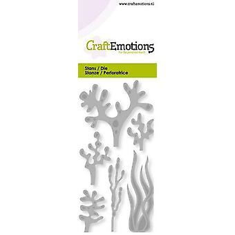 CraftEmotions يموت - الأعشاب البحرية، بطاقة المرجان 5x10cm