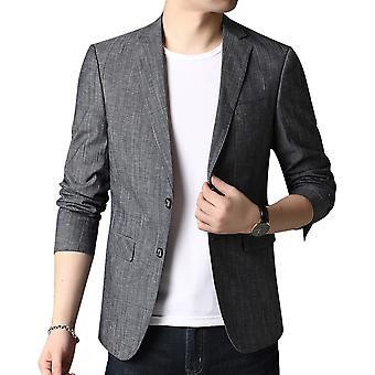 Allthemen Men's Printed Fit Blazer 2 Buttoned Notched Lapel Suit Jacket