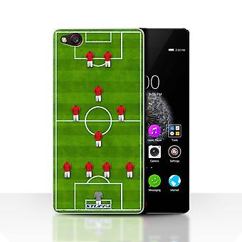 STUFF4 Case/Cover for ZTE Nubia Z9/4-1-2-1-2/Red/Football Formation