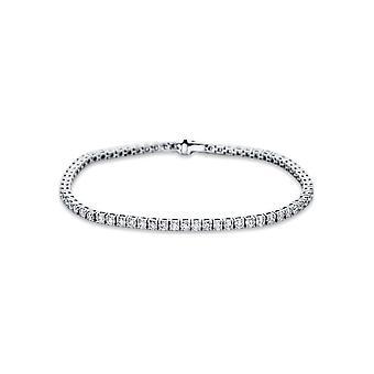 Bracelet Bracelet Diamant - 18K 750/- Or Blanc - 3,72 ct. - 5B646W8-1