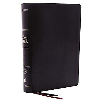 The KJV - Open Bible - Leathersoft - Black - Red Letter Edition - Com