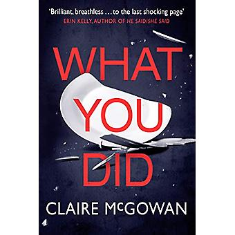 What You Did by Claire McGowan - 9781542007269 Book