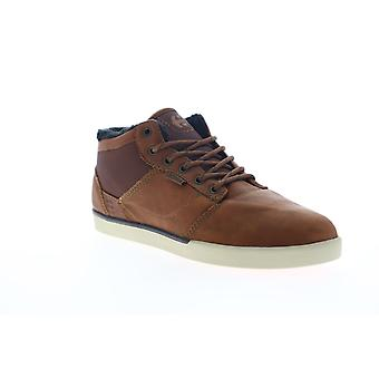 Etnies Jefferson Mid  Mens Brown Leather Athletic Skate Shoes