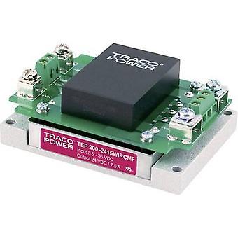 TracoPower TEP 200-2412WIRCMF DC / DC محول (وحدة) 24 V DC 12 V DC 15000 mA 200 W No. من النواتج: 1 x