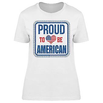 Proud To Be American Flag Tee Women's -Image by Shutterstock