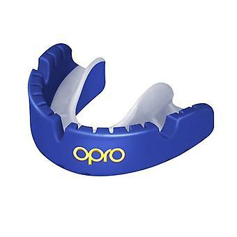 Opro Gold Braces Gen 4 Mouth Guard Pearl Blue/Pearl