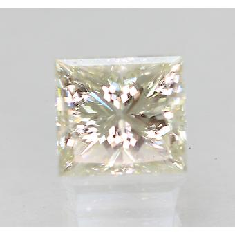 Certified 0.71 Carat I VVS2 Princess Enhanced Natural Diamond 5.08x4.69mm 2VG