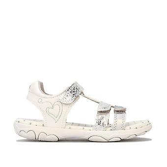 Girl's Geox Infant Cuore Sandal in Silver