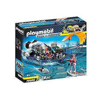 playmobil 70006 top agents team s.h.a.r.k harpoon craft playset 78pcs for ages 6