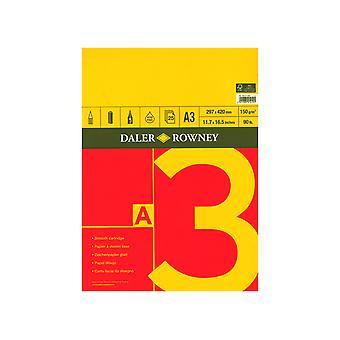 Daler Rowney-sarja Luonnoslehtiö A3, 25 sivua, 150gsm