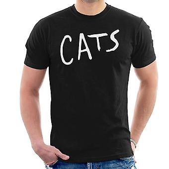 Cats Text Logo Men's T-Shirt