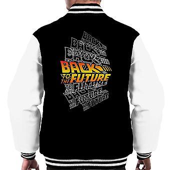 Back To The Future Classic Katmanlı Logo Men's Varsity Jacket