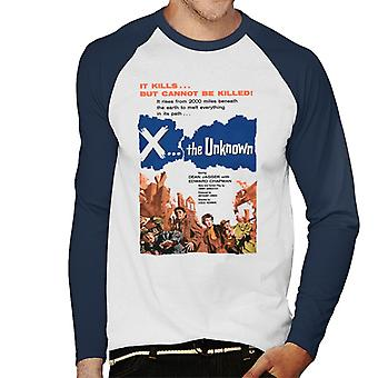 Hammer Horror Films X The Unknown It Cannot Be Killed Men's Baseball Long Sleeved T-Shirt