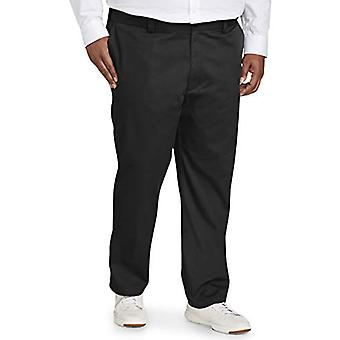 Essentials Men's Big & Tall Athletic-fit Wrinkle-Fit Wrinkle-Resistant Flat-Front Chino Pant fit por DXL, Negro, 50W x 30L