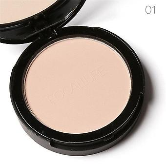 Face Pressed Powder Oil Control - Natural Foundation Powder 3 Colors Smooth Finish