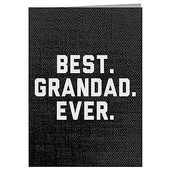 Bedste bedstefar nogensinde lykønskningskort