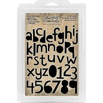 Advantus Tim Holtz Cling Stamps Stamps Cutout Lower (38szt) (TH93700)