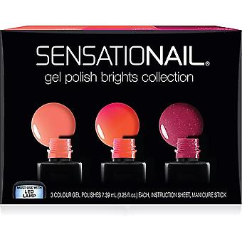 SensatioNail Triple Damage Proof LED Gel Polish Pack - Brights (3 X 7.39ml) (73024)