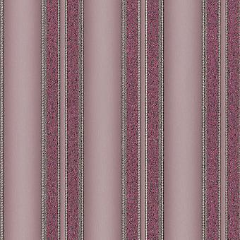 P&S International Spotlight Range Striped Pattern Glitter Effect Non-Woven Purple Wallpaper