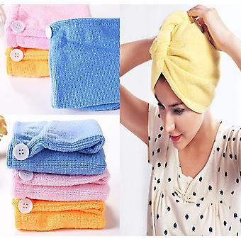 Turban Hair Drying Shower Microfiber Towel - Quick Drying Bathing Absorbent Bathrobe Wraps For Women