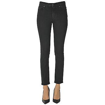 Atelier Cigala's Ezgl457017 Women's Black Cotton Jeans