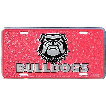 Georgia Bulldogs NCAA Mozaïek Kentekenplaat