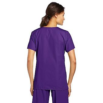 WonderWink womens Scrubs Golf Top,Grape,X-Large