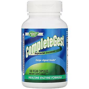 Nature-apos;s Way, CompleteGest, Mealtime Enzyme Formula, 180 Capsules végétaliennes