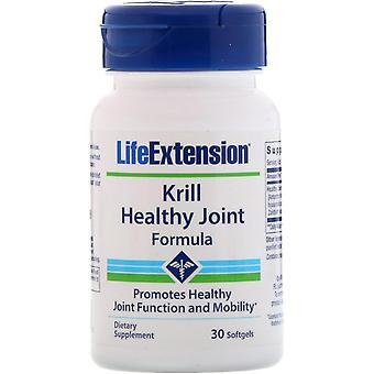 Extensión de vida, fórmula articular saludable Krill, 30 softgels