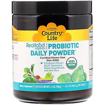 Country Life, Realfood Organics, Probiotic Daily Powder, 3,1 oz (90 g)