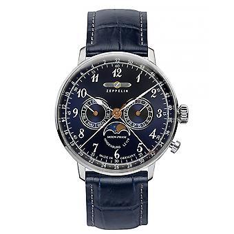 Zeppelin 7036-3 Hindenburg LZ 129 Blue Dial Wristwatch