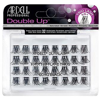 Ardell Duralash Double Up Knotted Flare Trios - Long Black - False Individuals