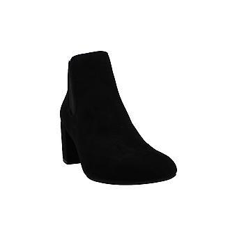 بار الثالث النساء جلد الغزال جولة أحذية الكاحل أزياء