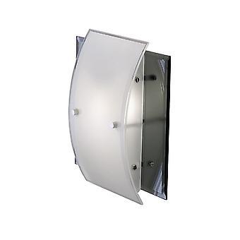 Flush Tak, Vägglampa 1 Ljus polerad krom, Spegel