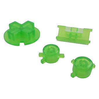 Button set for game boy color nintendo handheld console a b d-pad replacement - clear green | zedlabz