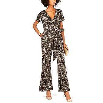 Ivanka Trump | Cheetah-Print Belted Jumpsuit