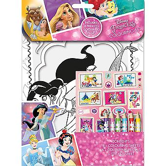 Disney Princess Colouring Set Childrens Activity Stickers Stocking Filler Gift