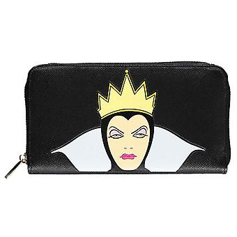Snow White Purse Evil Queen new Official Disney Black Zip Around